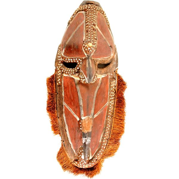 Ceremonial Wood and Shell Mask, Papua New Guinea  [87474]