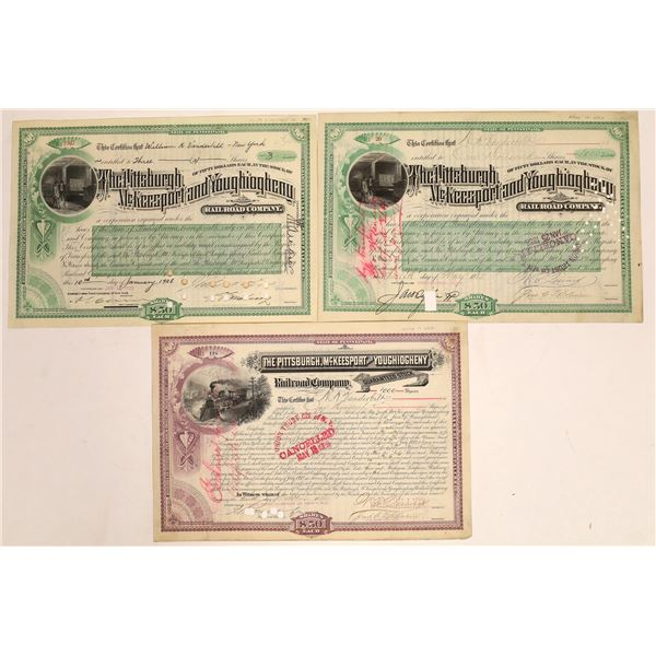 Pittsburgh, McKeesport & Youghiogheny Railroad Stocks Issued to Vanderbilts  [134066]
