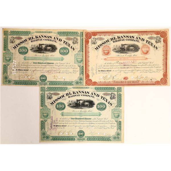 Jay Gould Trio of Autographs on Railroad Stocks  [132736]