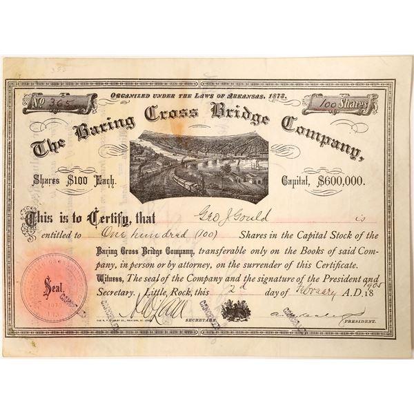 George J. Gould name on the Baring Cross Bridge Company Stock  [130198]