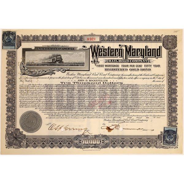 Western Maryland Railroad Co. Bond Issued to John D. Rockefeller  [134055]