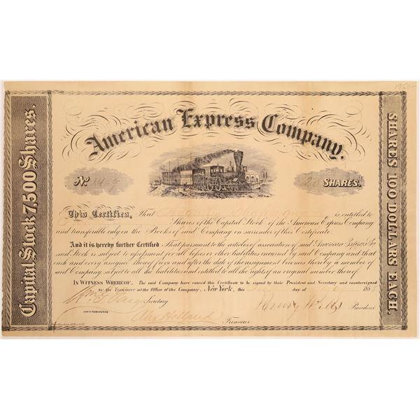 American Express Company Stock Certificate (Wells, Fargo, Holland Signatures)  [134074]