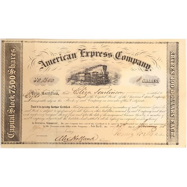 American Express Company Certificate (Wells, Fargo, Holland Signatures)  [132691]