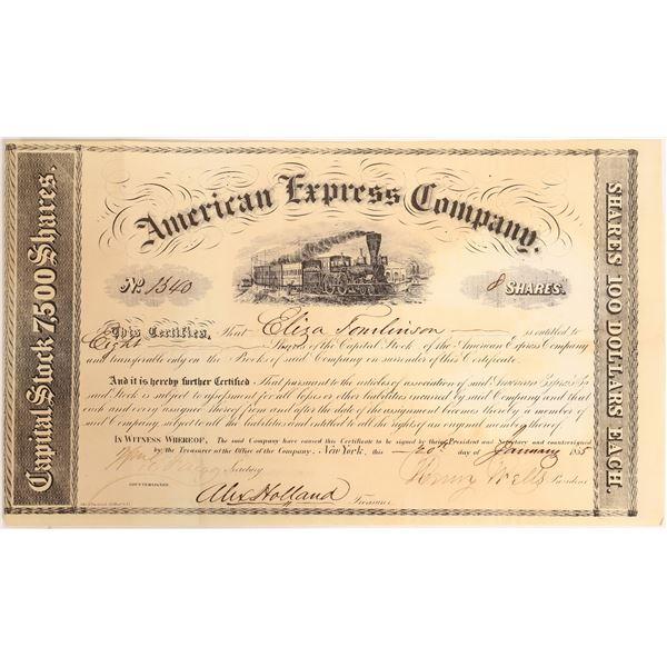 American Express Company Certificate (Wells, Fargo, Holland Signatures)  [132691]