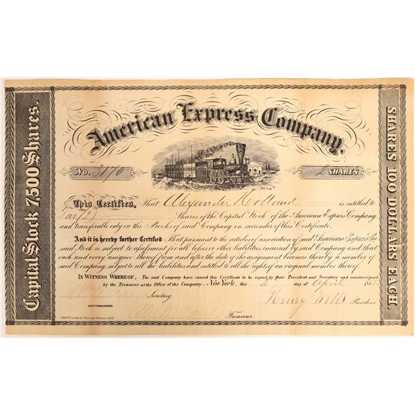 American Express Company Certificate (Wells, Fargo, Holland Signatures)  [132694]