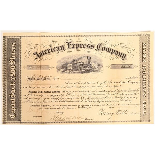 American Express stock Certificate Signed by Wells and Fargo  [132696]
