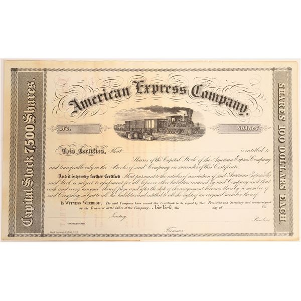 American Express Stock Certificate  [132743]
