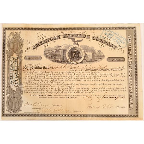 American Express Co. Stock Certificate (Wells, Fargo, Holland Signatures)  [134077]