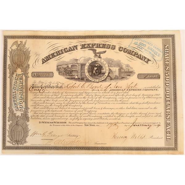 American Express Co. Stock Certificate (Wells, Fargo, Holland Signatures)  [134077]