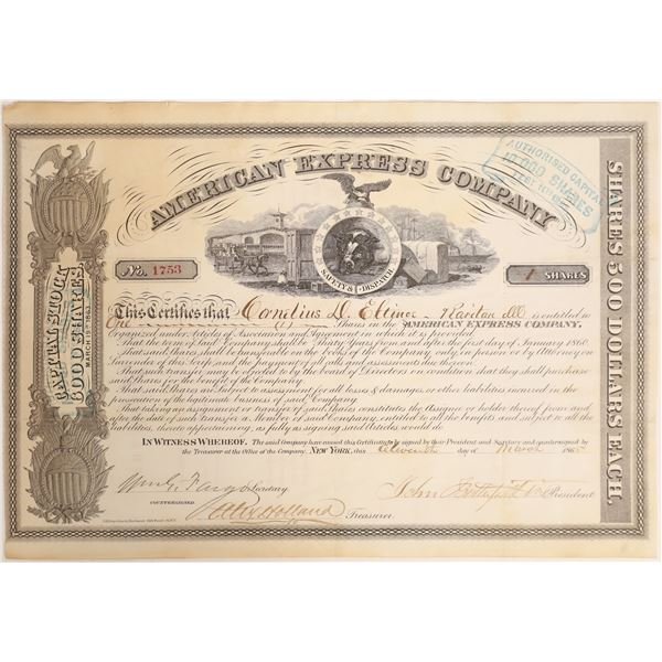 American Express stock Type 5 Signed by Butterfield  [132706]
