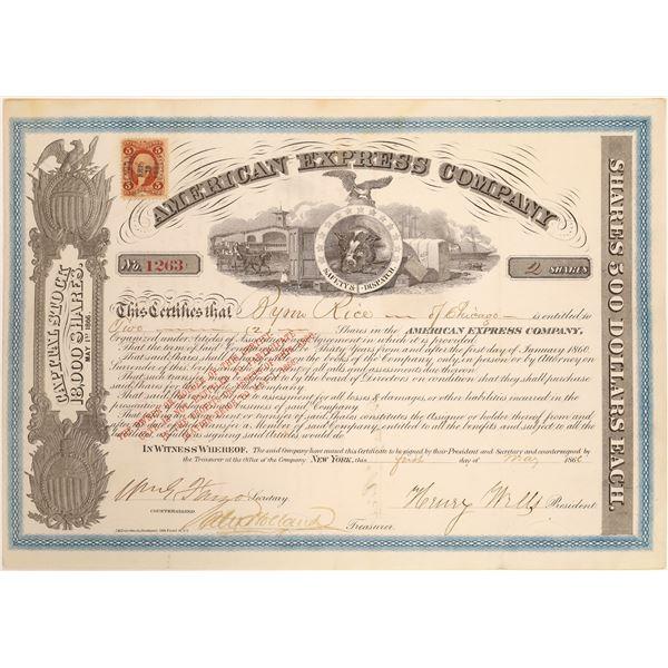 American Express Co. Stock Certificate (Wells, Fargo, Holland Signatures)  [134078]