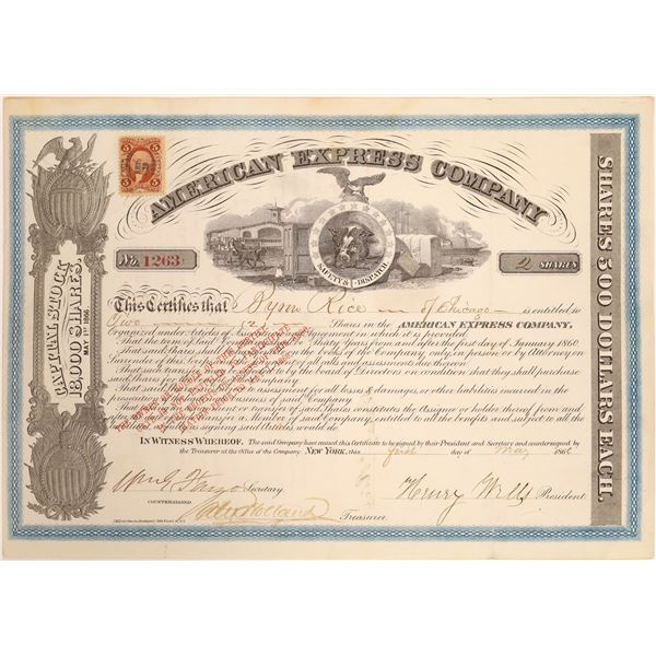 American Express Co. Stock Certificate (Wells, Fargo, Holland Signatures)  [134078]