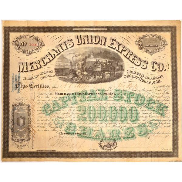 Merchants Union Express Company Stock Certificate  [132726]