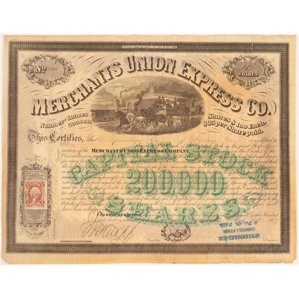 Merchants Union Express Company Stock Certificate  [134079]