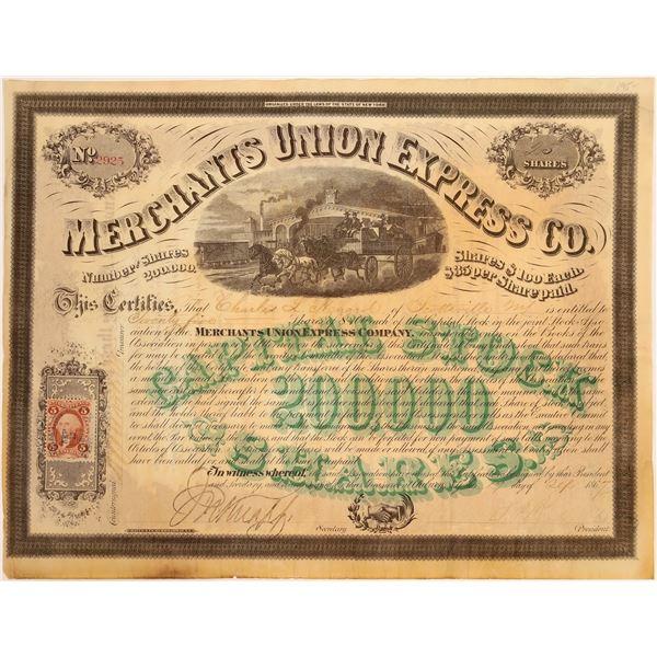 Merchants Union Express Company Stock Certificate  [134080]