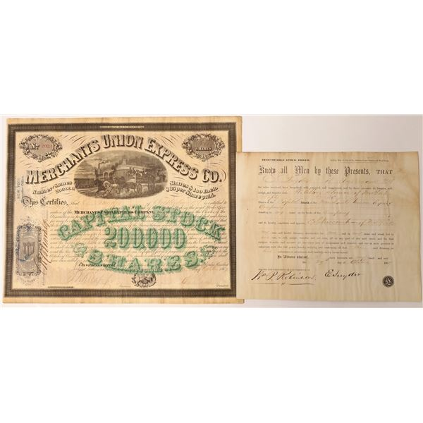 Merchants Union Express with President Ross and Knapp Signatures  [130192]