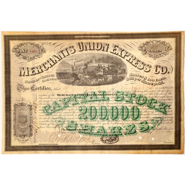Merchants Union Express with President Ross and Knapp Signatures (Different Printing)  [130190]