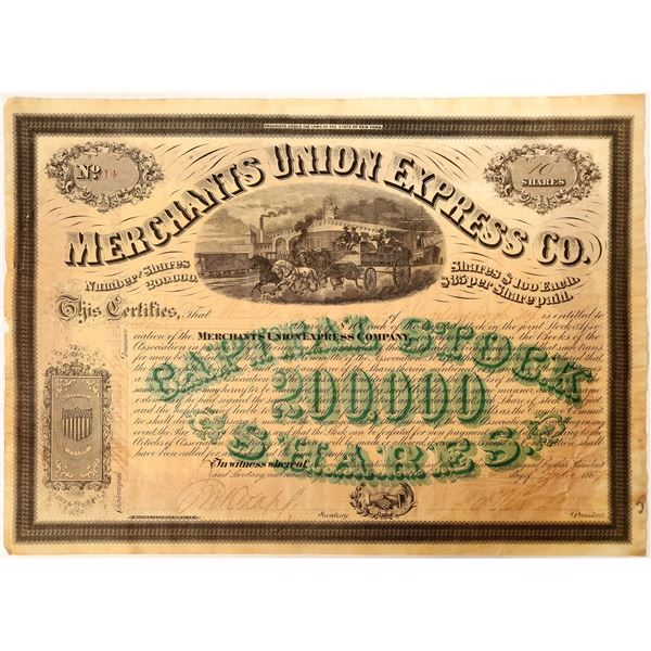 New York Merchants Union Express with President Ross and Knapp Signatures   [130193]