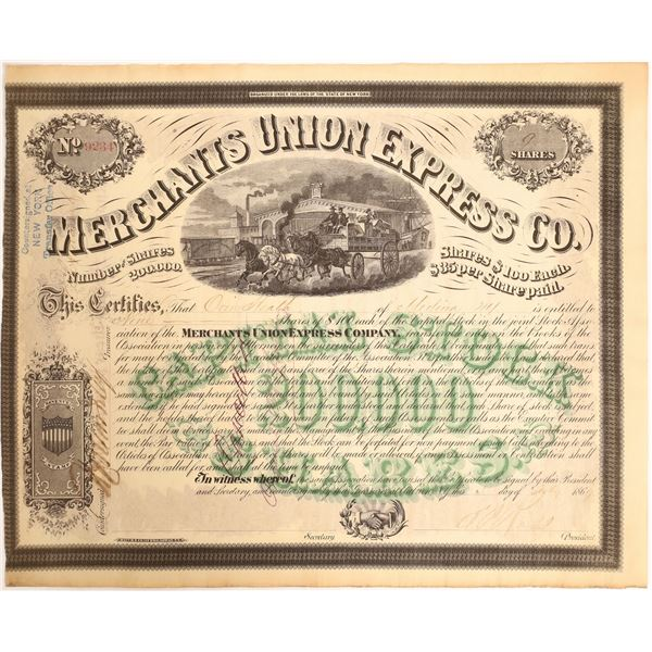 Merchants Union Express with a president Ross Signature  [130191]