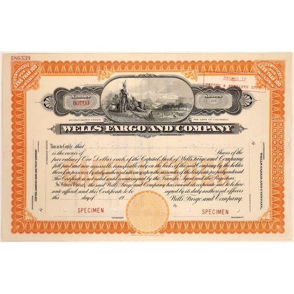 Wells Fargo & Company Specimen Stock Certificate  [134062]