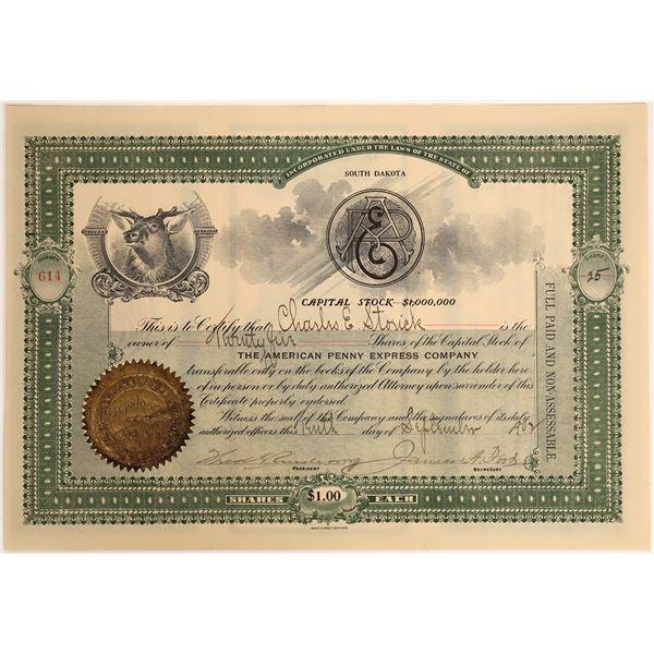 American Penny Express Company Stock, 1902  [118365]