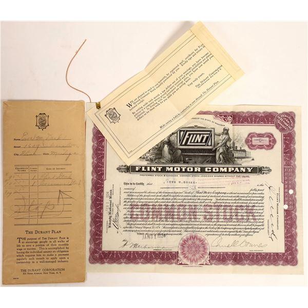 Flint Motor Company Common Stock  [130217]