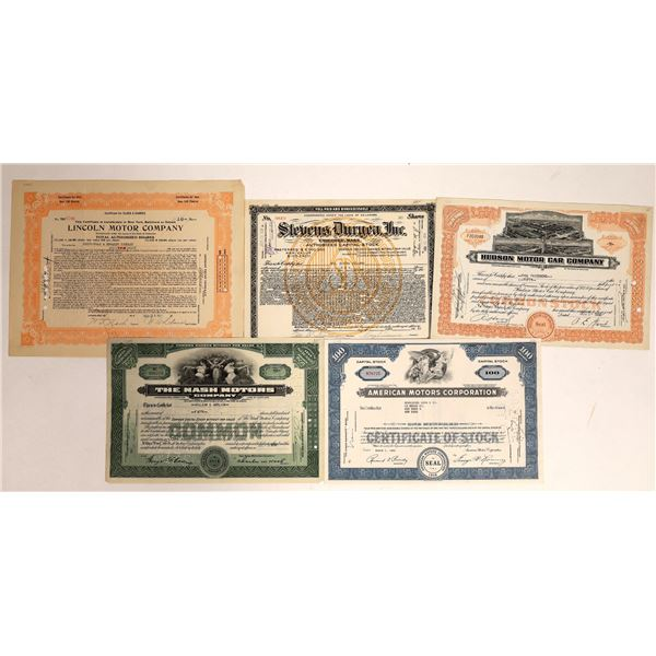 Automobile Company Stocks Group (5)  [111864]