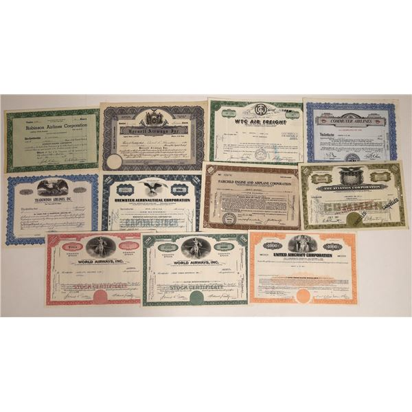 Airline Stock Certificate Collection (11)  [111866]