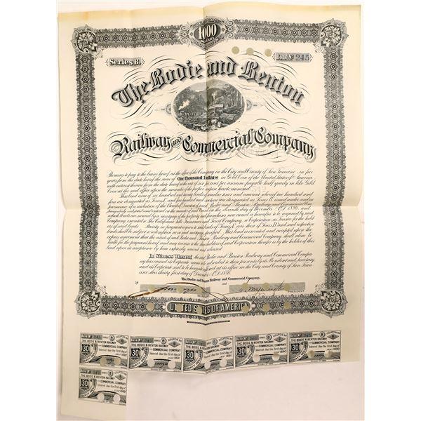 Bodie & Benton Railway & Commercial Company Bond, Bodie, Cal. 1886  [111879]