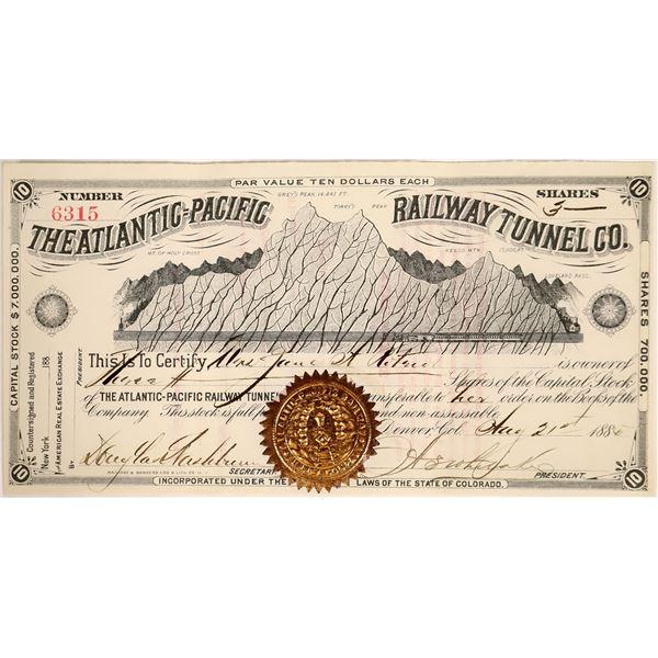 Atlantic=Pacific Railway Tunnel Stock, Colorado, 1885  [111881]