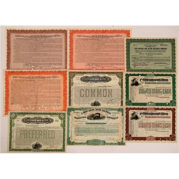 Chicago & Alton Railroad Co Certificates  [135386]