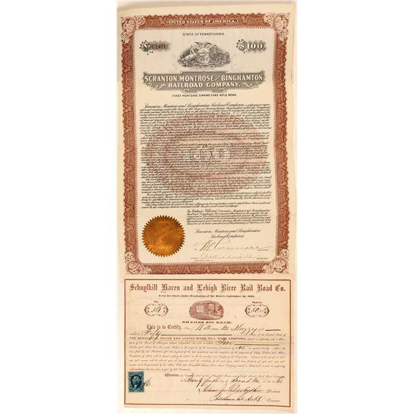 Pennsylvania RR stock/bond  [135376]