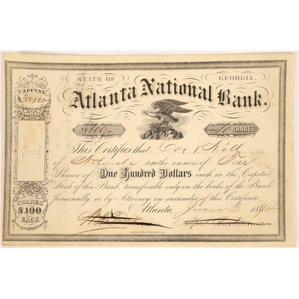 Atlanta National Bank Stock Certificate  [135439]