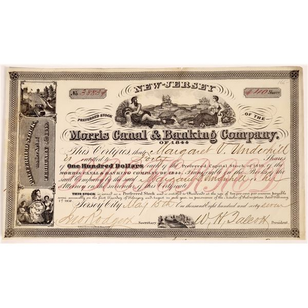 Morris Canal & Banking Company Stock Certificate  [135429]