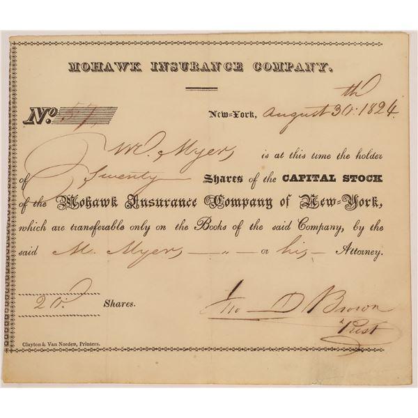 Mohawk Insurance Company Stock Certificate  [134159]