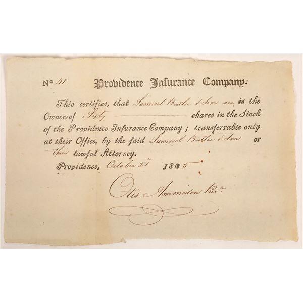 Providence Insurance Company Stock Certificate  [134120]