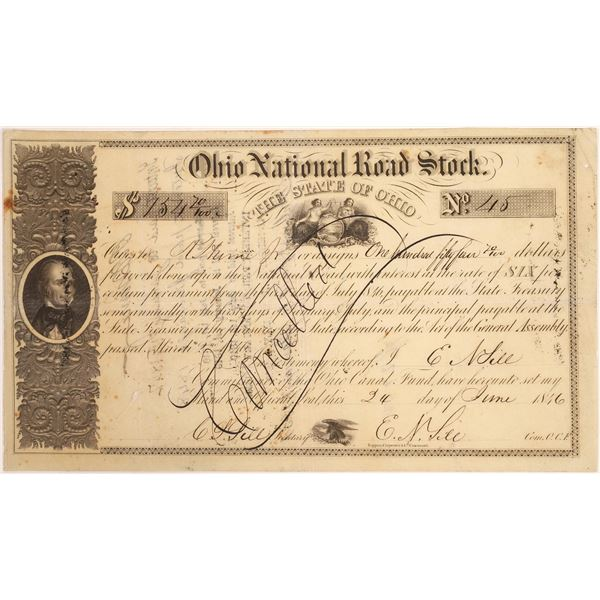 Ohio National Road Stock Certificate  [134133]