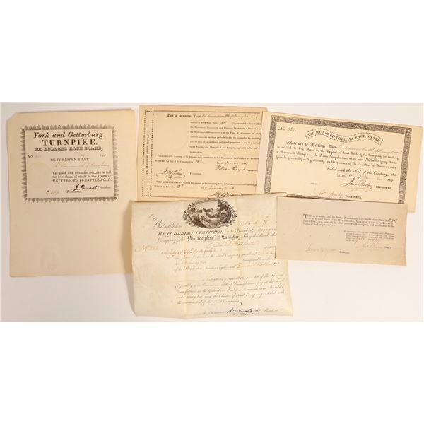 Small Collection of Early Pennsylvania Turnpike's incl. Rare Piece  [132767]