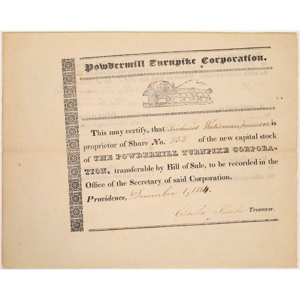 Powdermill Turnpike Corporation Stock Certificate  [134123]