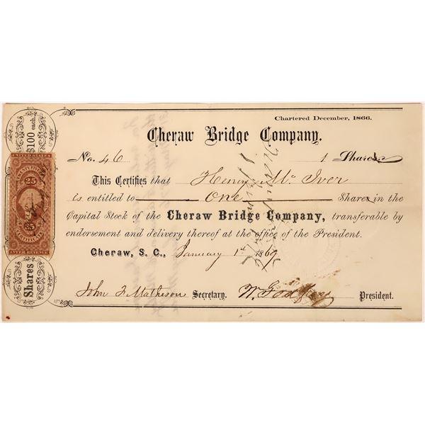 Cheraw Bridge Company Stock Certificate  [128266]