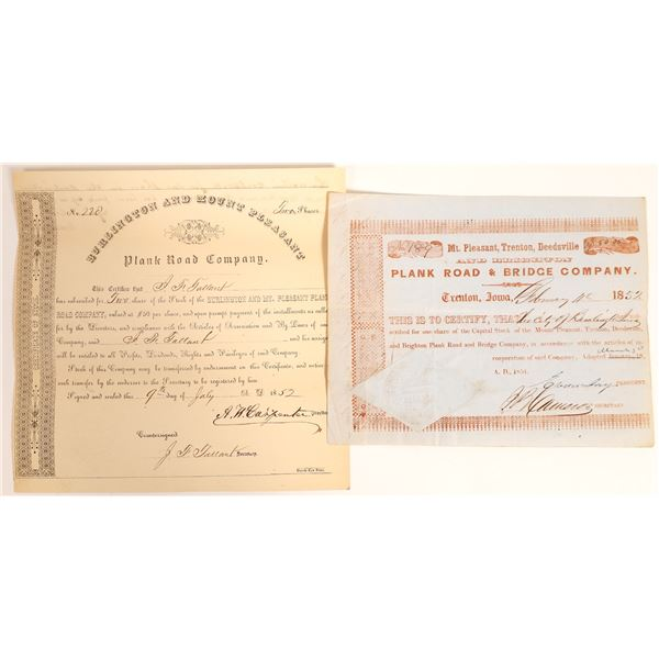 Early Plank Road Certificates  [132763]