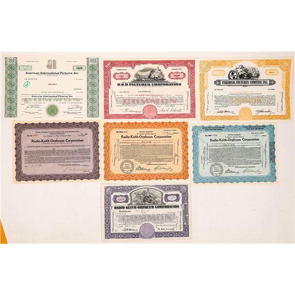 RKO & Universal Studios Stock Certificates--7  [126968]