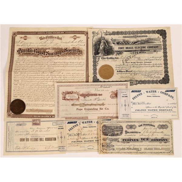 California Non-Mining Related Stock Certificate Group  [135430]
