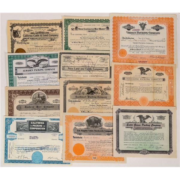 California Livestock Company Certificates  [124557]