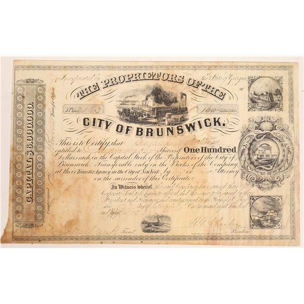 City of Brunswick (Georgia) Stock Certificate  [134140]