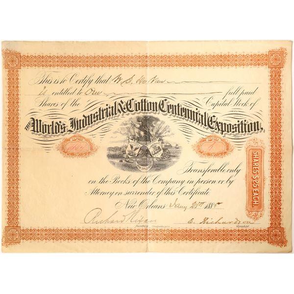World's Industrial & Cotton Centennial Exposition Stock  [130194]