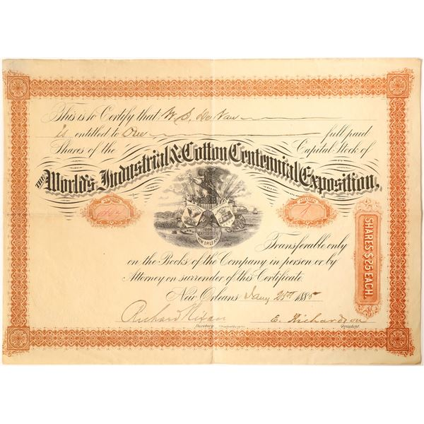 World's Industrial & Cotton Centennial Exposition Stock  [130194]