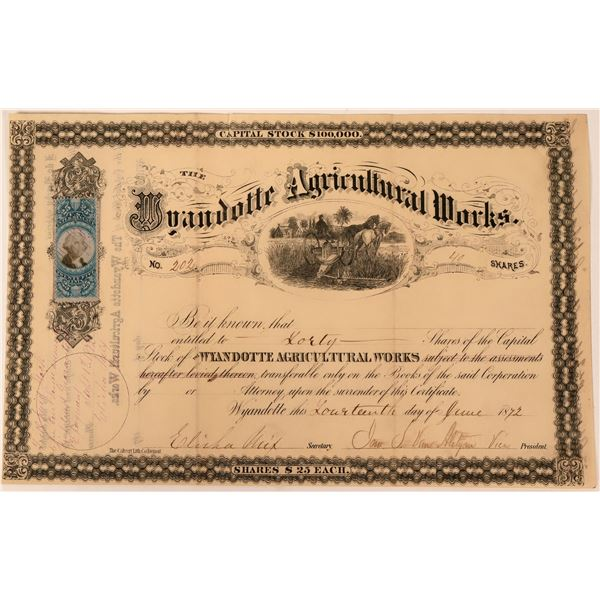 Wyandotte Agricultural Works Company Stock  [123308]