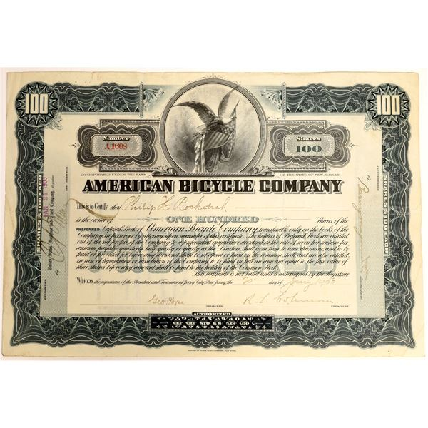 American Bicycle Company 1903 Stock Certificate  [127964]
