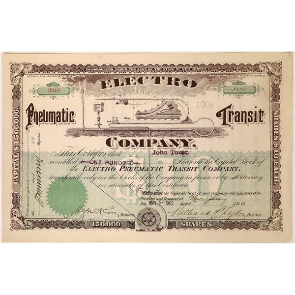 Electro Pneumatic Transit Stock Certificate  [128260]